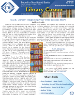Library Corner – Spring 2013