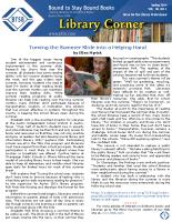Library Corner – Spring 2014 (PDF)