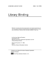 Library Binding Standards
