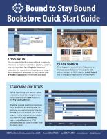Bookstore Quick Start Guide