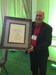 Bob with Jean Srnecz Award