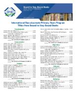 International Baccalaureate – Primary Years Program (PDF)