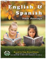 English & Spanish Title Pairing Books Fall 2017