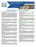 Black History Post Civil War Dec 2017