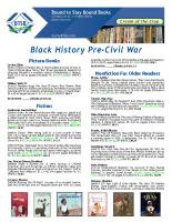 Black History Pre-Civil War Dec 2017