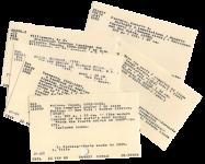 Catalog Cards