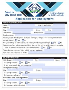 application for employment fill-able