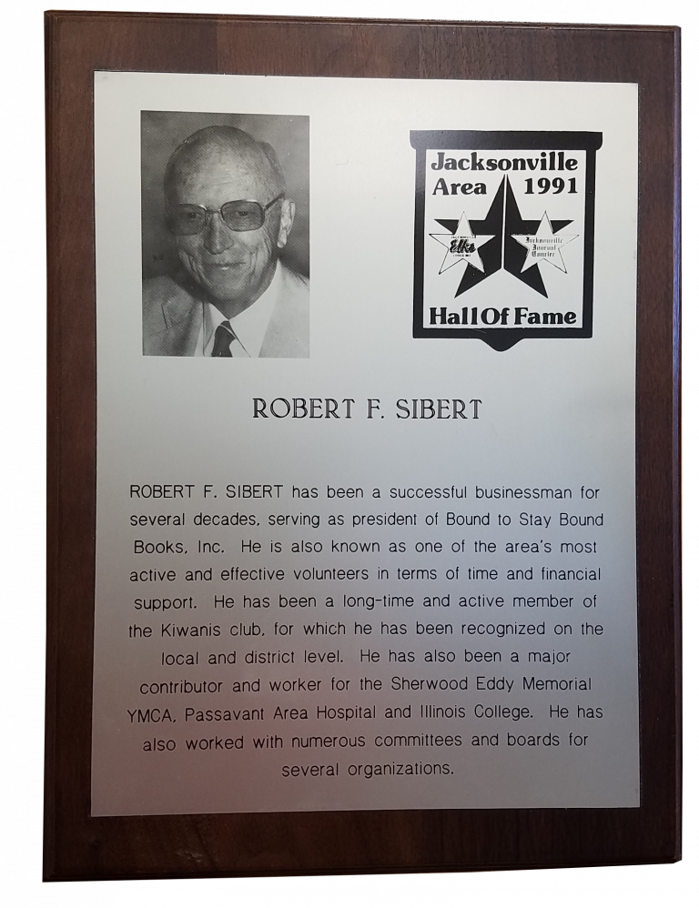 Robert F Sibert 91 Hal of Fame