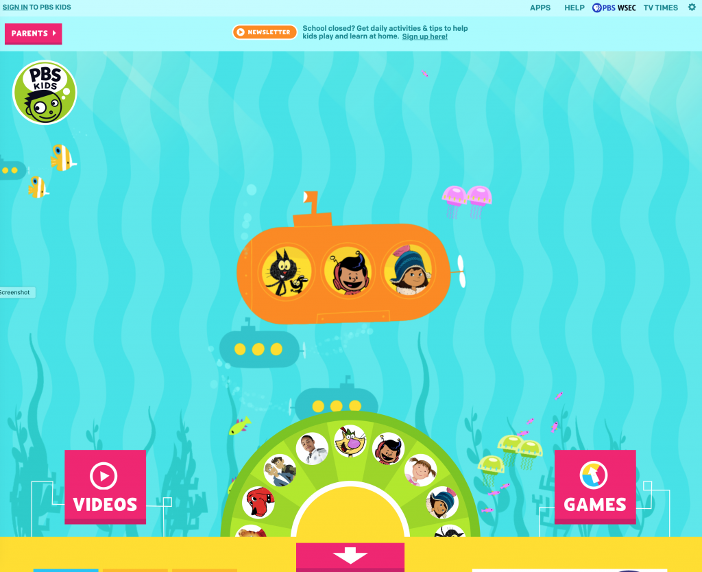 PBS Kids Web Site