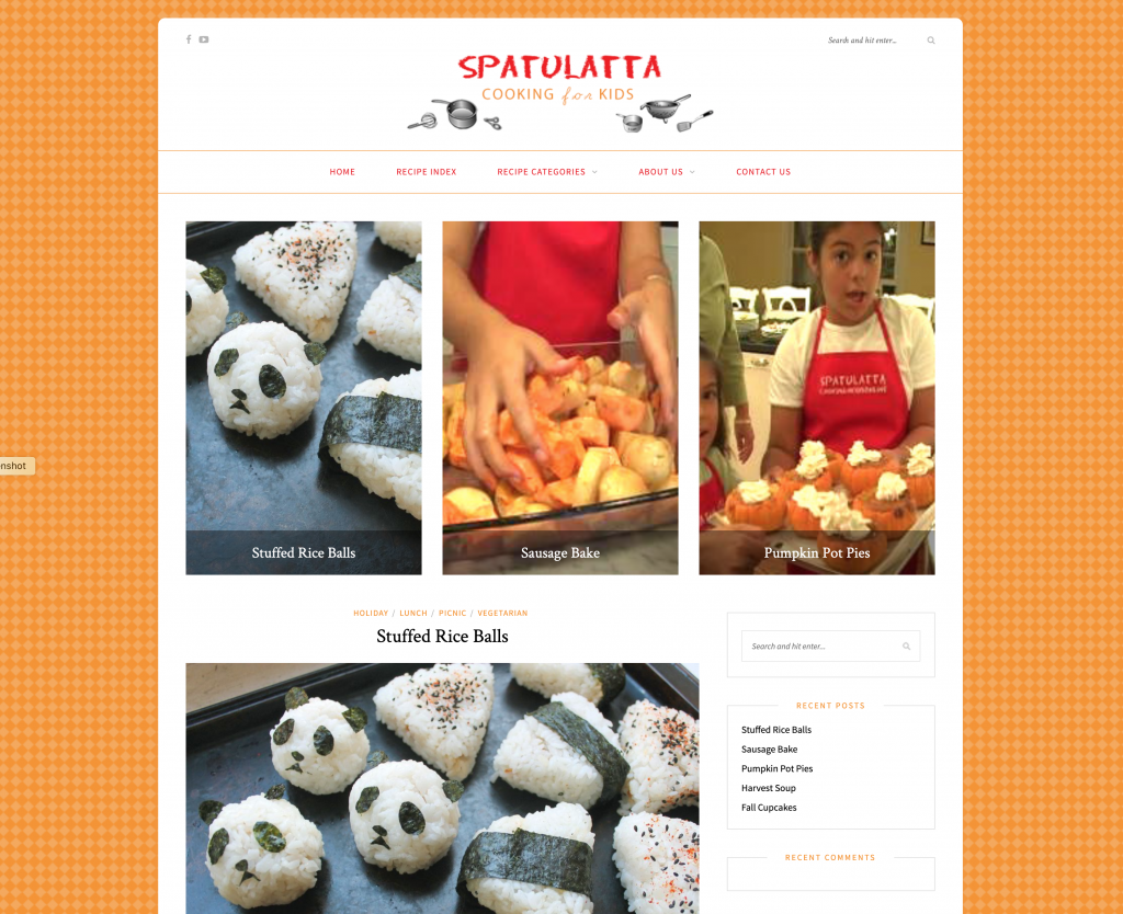 Spatulatta Cooking For Kids Web Site