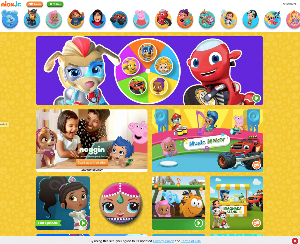 Nick Jr. Web Site