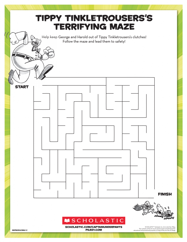 Dav Pilkey Tippy Tinkletrousers Maze