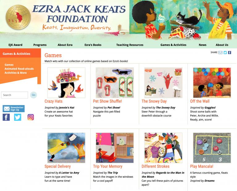 Ezra Jack Keats Foundation Web Site