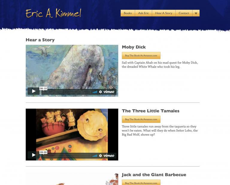 Eric A. Kimmel Web Site