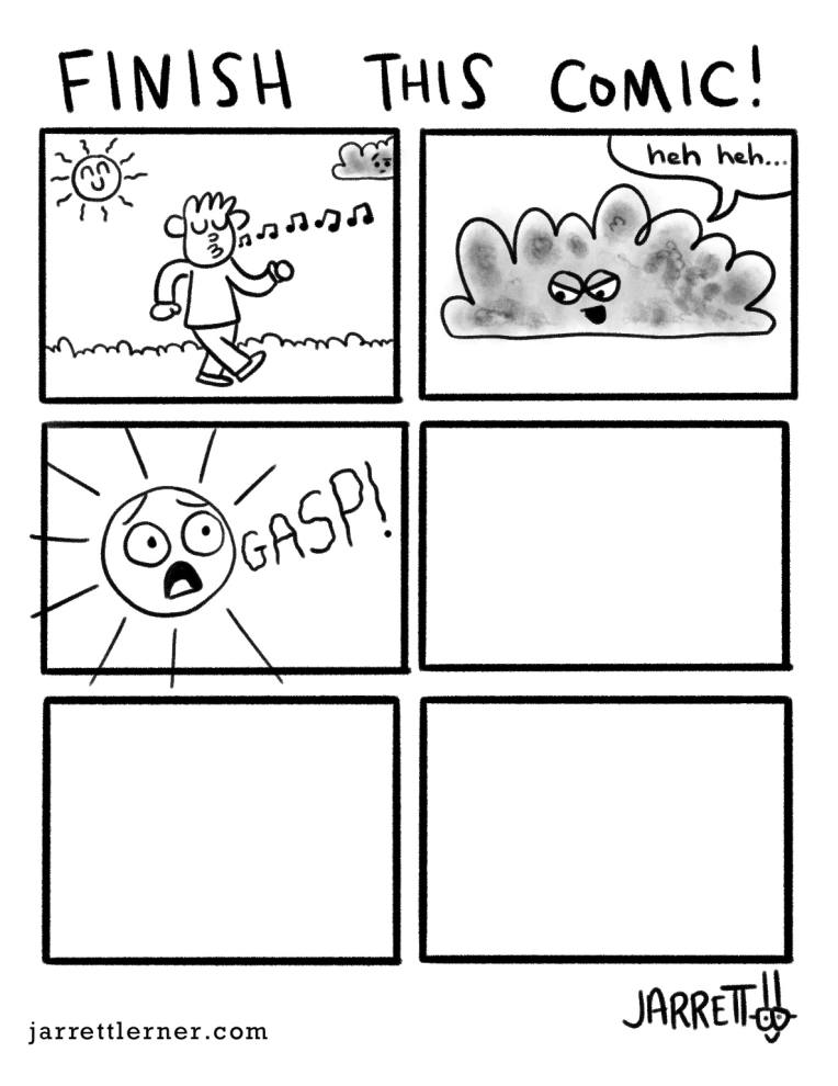 Jarrett Lerner Comic Activity Pages