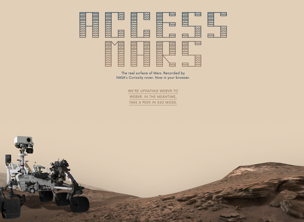 ACCESS MARS recorded by NASA's Curiosity Rover.