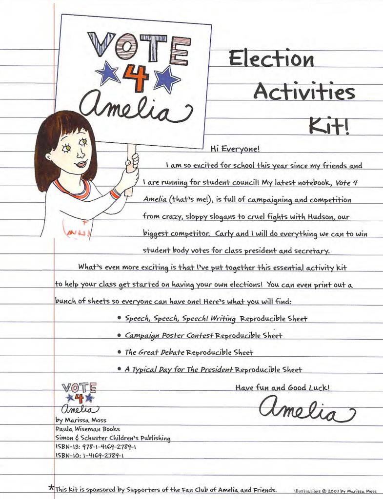 Marissa Moss Amelia Activity Kit Online