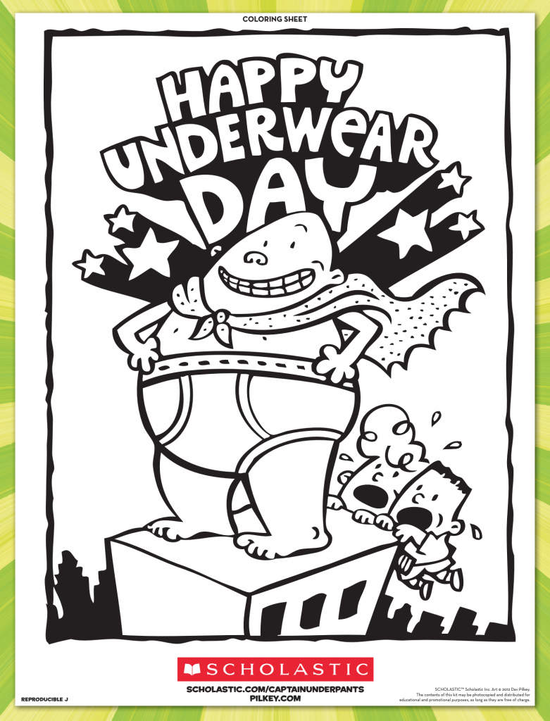 Dav Pilkey Captain Underpants Coloring Pages