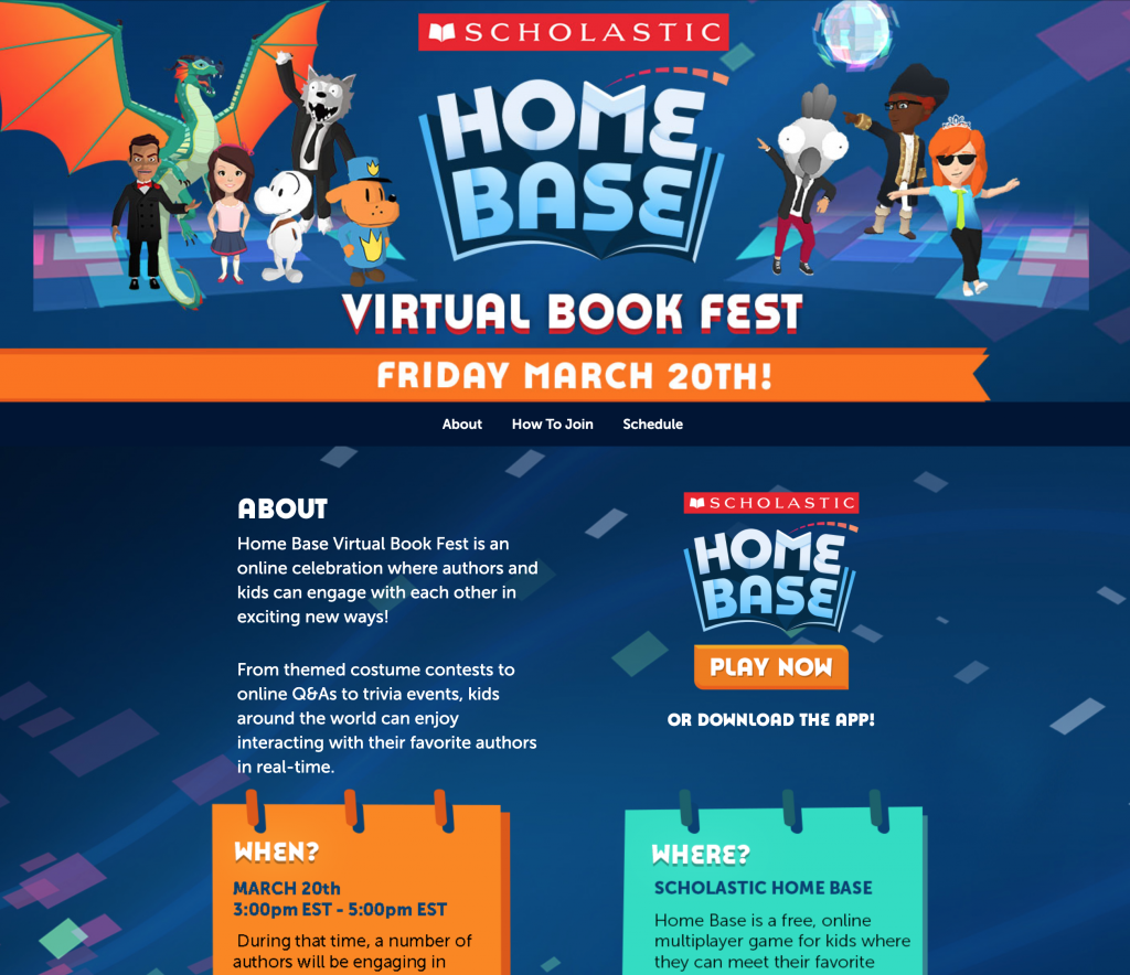 Scholastic Home Base Virtual Book Fest Web Site
