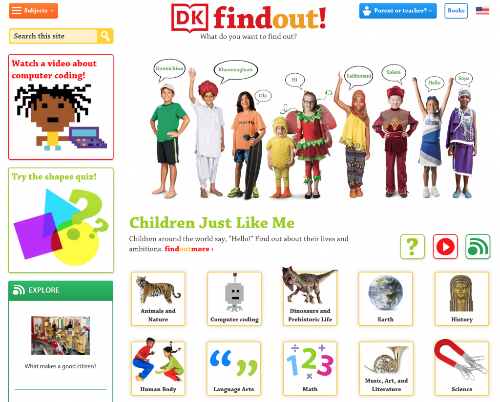 DK Find Out Web Site