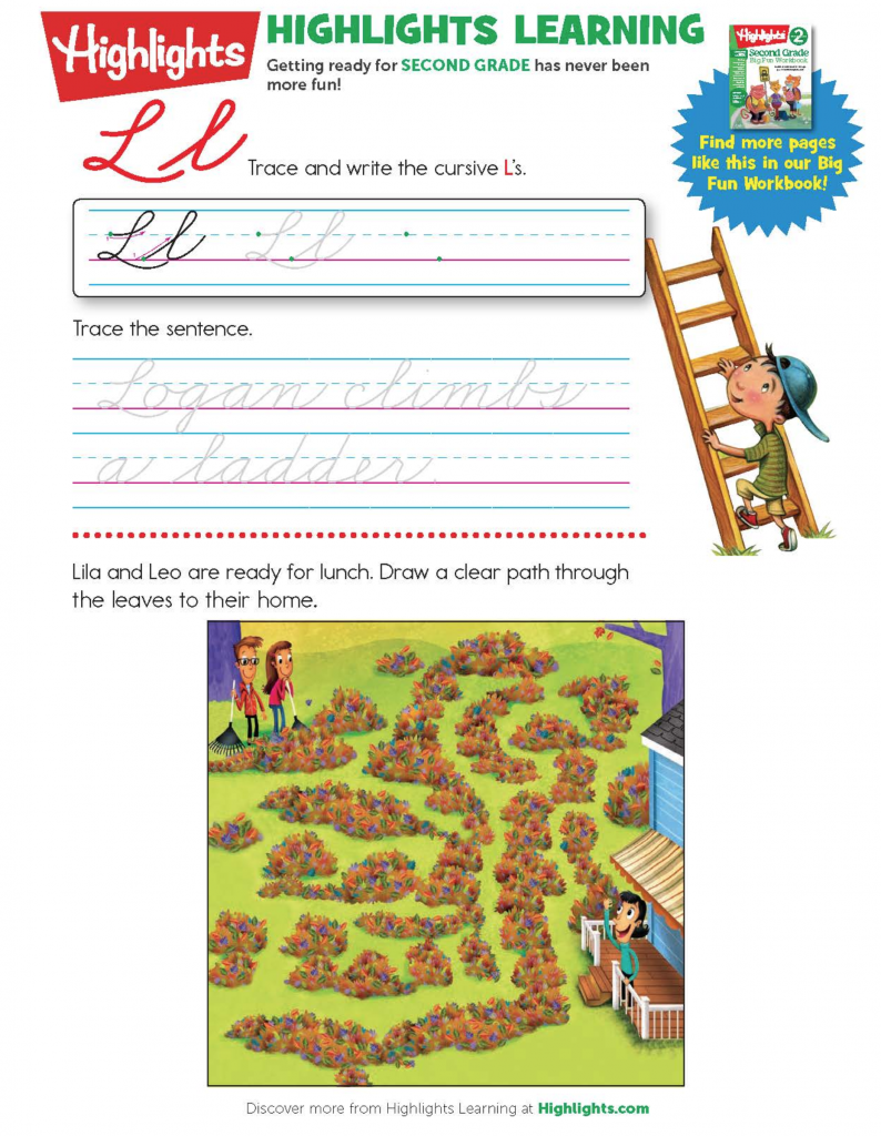 Highlights Learning Fun Activity pages