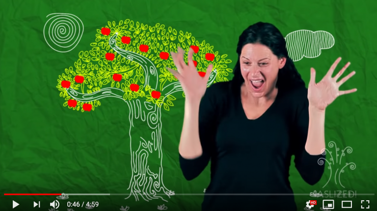 ASL Video of The Giving Tree