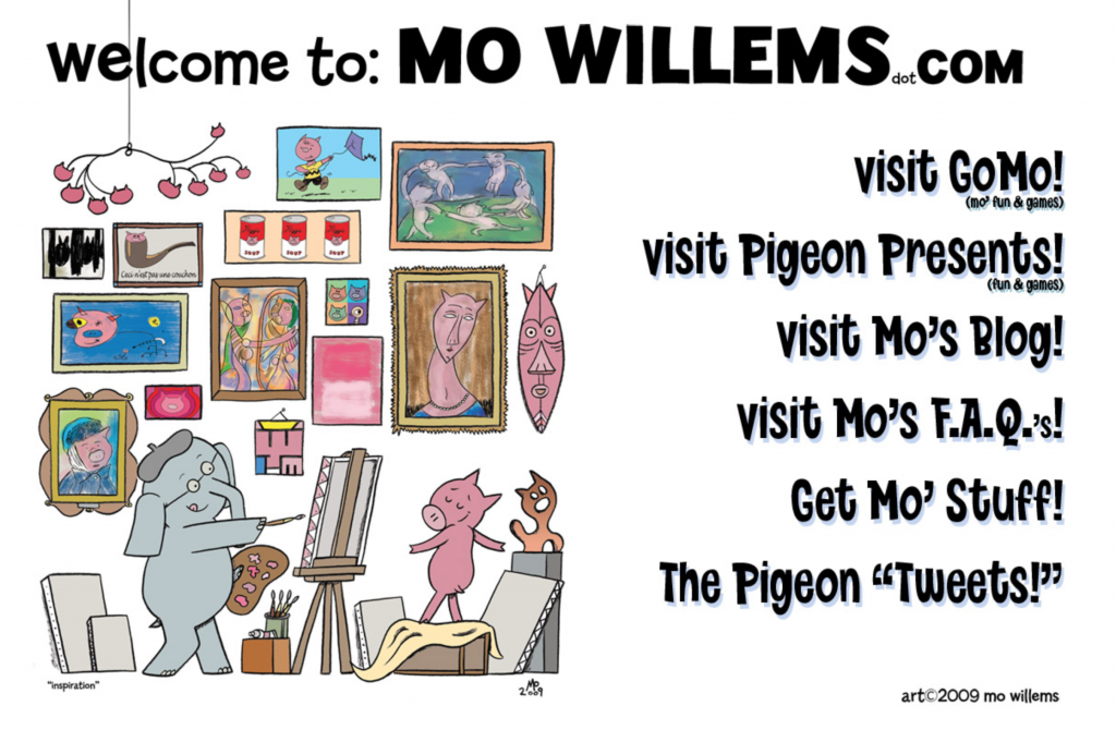 Mo Willems Web Site
