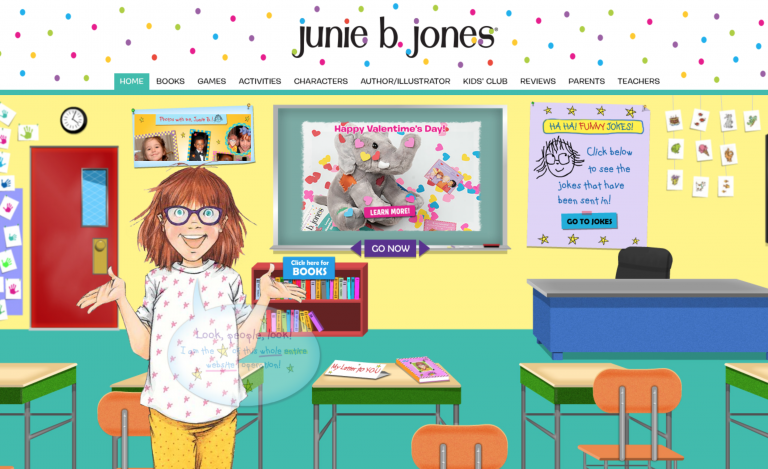 junie b. jones web site