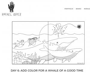Rafael Lopez Coloring Page Graphic
