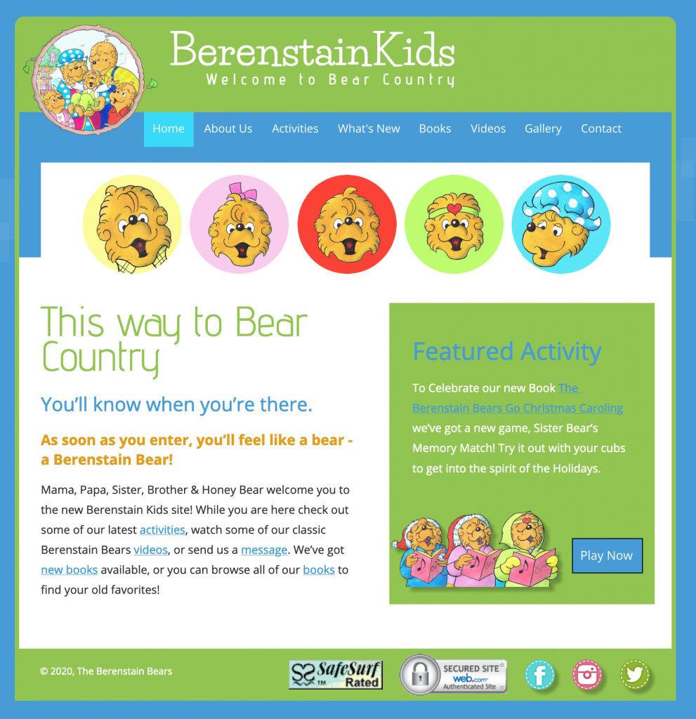 Berenstain Kids Web Page