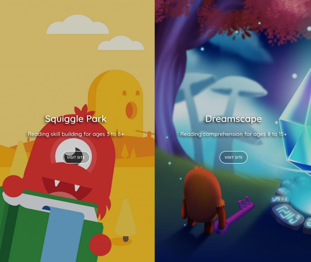 Squiggle Park & Dreamscape Web Page