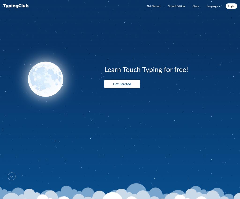 Typing Club Web Page