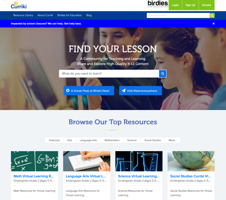 Curriki Find You Lesson Web Page