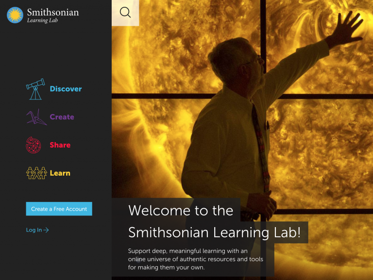 Smithsonian Learning Lab Web Page