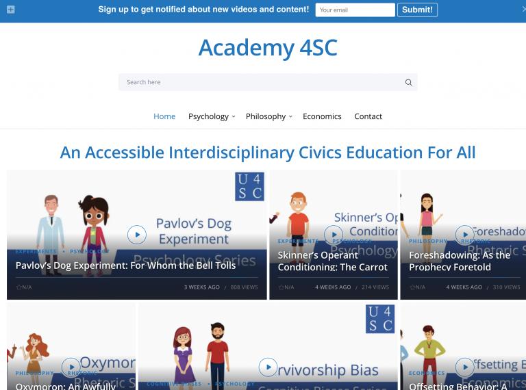 Academy 4SC Web Site