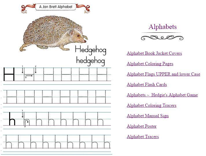 Jan Brett Alphabet